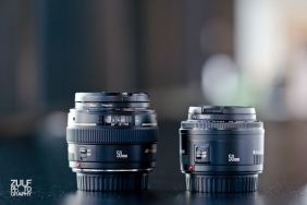 Left: Canon EF 50mm F1.4 USM Right: Canon EF 50mm f/1.8 II Camera Lens