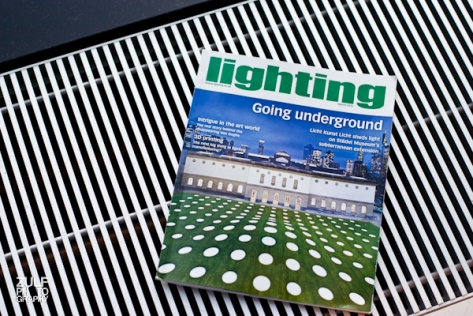 For the purposes of this test we are using a issue of Lighting Magazine www.lighting.co.uk