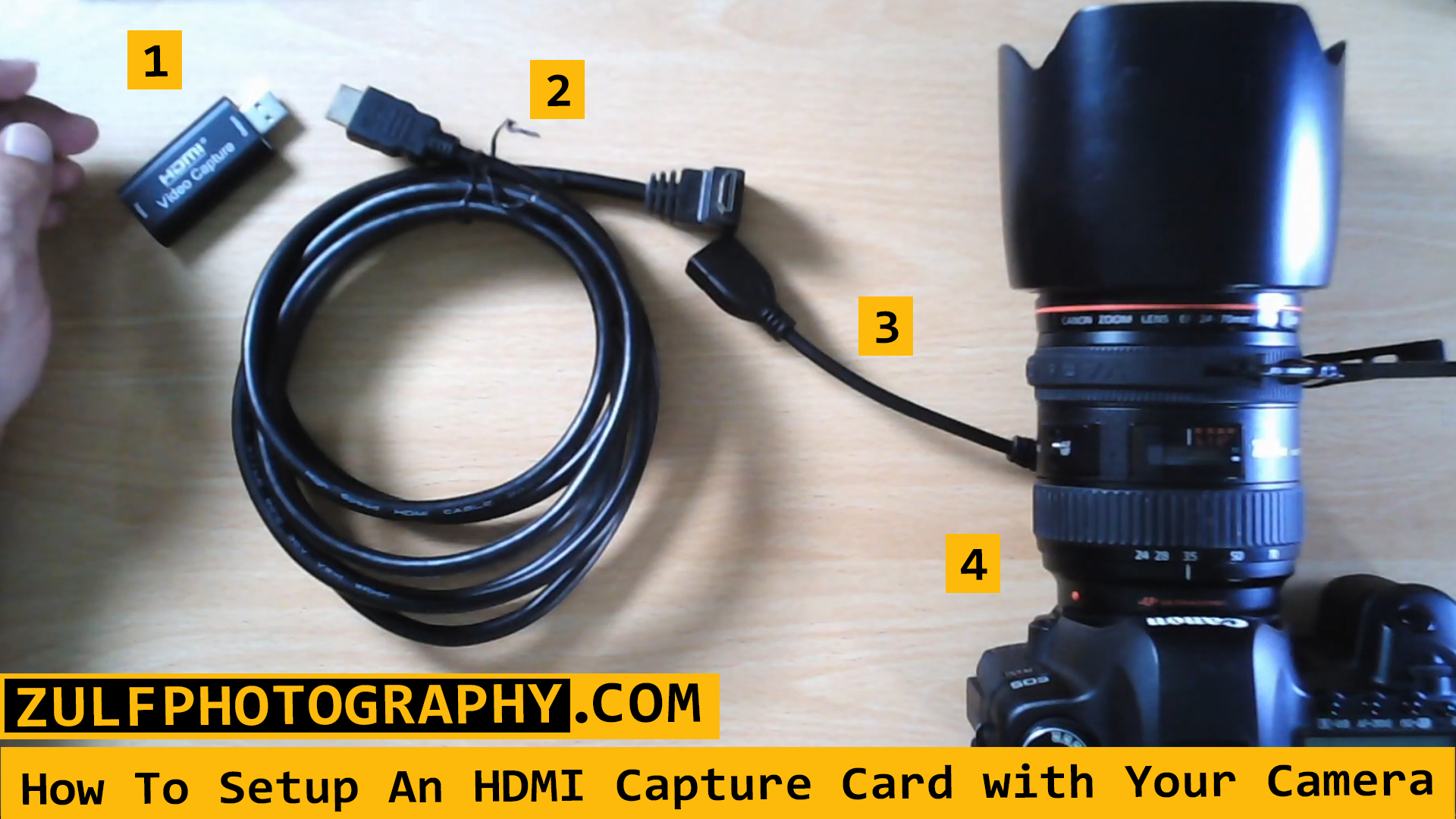 HDMI Setup for camera